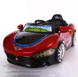 赤いカラーRC機能の車の小型子供の乗車