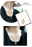 金孔雀の銀の吊り下げ式の真珠のネックレスの方法925スライバ最高時の金張りのネックレスのTureの淡水の培養された真珠の宝石類のアクセサリ