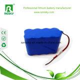 paquete Icr18650-3p de la batería recargable de 3.7V 6ah para el GPS