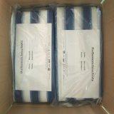 Raschel 그물세공이 발코니 그늘 그물세공, 파란 및 백색 줄무늬에 의하여, HDPE 뜨개질을 했다