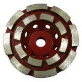 Roda baixa de aço de moedura do copo para o polonês de pedra do segmento do metal