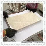 Telhas de mármore bege do branco chinês para o assoalho do hotel