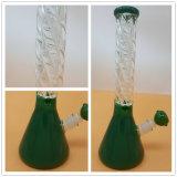 Neues Profil-rauchendes Wasser-Glasrohr mit Farben-Becher