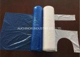Delantal plástico disponible grabado blanco plástico del PE
