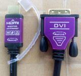 Qualité HDMI au câble dvi avec la fiche en métal