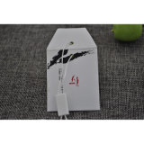 Hangtag de papel impreso para el bolso del botón del repuesto de la ropa