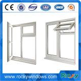 Finestra di vetro orizzontale standard australiana di scivolamento del PVC