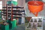 ゴム製タイルの加硫機械