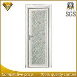 Porte en aluminium de tissu pour rideaux en verre givré de mode pour la salle de bains et la cuisine