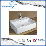 El lavabo y la pared de cerámica del arte de la cabina colgaron el fregadero que se lavaba de la mano (ACB8325)