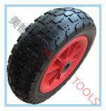Rotella libera piana 12X3.50-6 del camion di mano della gomma piuma dell'unità di elaborazione con il cuscinetto a rullo
