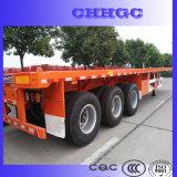 China 3 Semi Aanhangwagen van de Container van de As Flatbed voor Verkoop