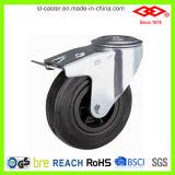 Schwarze industrielle Gummifußrolle (P101-31D075X25)