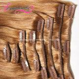 Clip 100% brésilien de Vierge en gros de Remy dans des extensions de cheveux humains