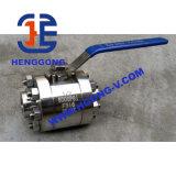 Vávula de bola soldada 3PC forjada de alta presión del acero de API/JIS/DIN