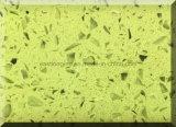 Pedra artificial amarela de quartzo da alta qualidade para a venda