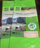 Sac d'alimentation en bloc tissé par pp, sac d'alimentation de poulet 50kg, sac de empaquetage de fourrage animal