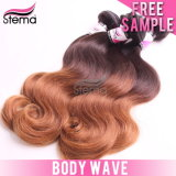 6A100%ブラジルのVirgin Unprocessed Ombre Body Human Hair