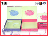 Caixa de empacotamento ajustada do presente cosmético cosmético extravagante colorido da caixa de presente Hotsales/