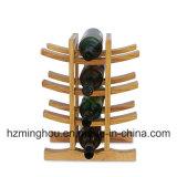 Творческий твердый деревянный стеллаж для выставки товаров вина бутылки держателя 12 шкафа