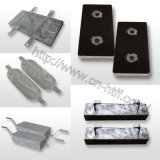 Hoher Reinheitsgrad-Qualität verdrängte Aluminiumanode