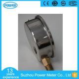 manomètre rempli d'huile de caisse d'acier inoxydable de 75mm