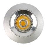 Runde örtlich festgelegte vertiefte LED Deckenleuchte des Drehbank-Aluminium-GU10 MR16 (LT2100)