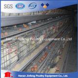 um tipo gaiolas da galinha da camada da bateria com sistema do silo