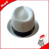 [فدورا] قبعة ورقة قبعة [سترو هت] يحاك قبعة ورقيّة