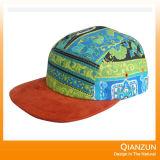 濃紺のスエードの革平らな5つのパネルの余暇の帽子