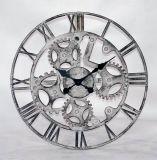 Estilo industrial Forma de engrenagem Relógio de parede de metal Decoração de arte