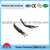 납작하게 PVC 절연재 쌍둥이와 지구 전기선 (BVVB+E)