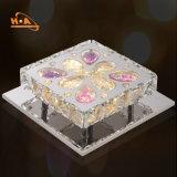 Hotel que janta o candelabro de cristal retangular de cristal do teto do dispositivo elétrico do casamento
