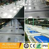 リチウムイオン電池の太陽電池パネル統合された60W LEDの太陽街灯