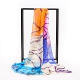 Form kundenspezifische Damen langer Silk Schal und Schale Hijab Schal