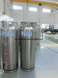 Cilindro criogênico médico do vaso Dewar da isolação do argônio do nitrogênio do oxigênio líquido de GNL