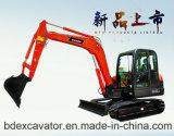 Máquina escavadora 5.5ton/0.2cbm do estojo compato da esteira rolante de Baoding mini