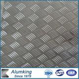 Placa de alumínio de duas barras com padrão de ASTM