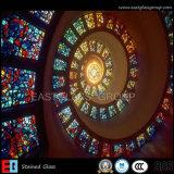 Vidrio manchado de la iglesia Glassegst017 (vidrio del color)