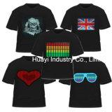 Camisetas personalizadas LED parpadeante interactivo