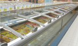 Étalage avancé d'île de supermarché