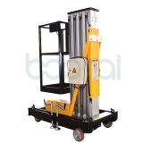 Einzelner Mast-leichter elektrischer hydraulischer Aluminiummast-vertikaler Mann-Aufzug