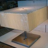 Декоративные живущий прикроватный столик квадрата тени ткани комнаты/светильник стола