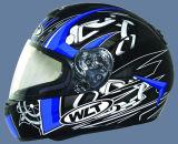 De Helm van de Motorfiets van de PUNT (102-Black&Blue#2)