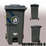 Balde do lixo de borracha Waste da roda do escaninho de lixo para HD2wwp240c-H ao ar livre