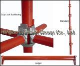 Système tubulaire en acier d'échafaudage de serrure de tasse
