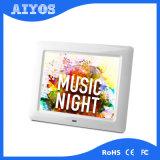 8インチA級LCDのスクリーンの調節可能で再充電可能なデジタル写真フレーム