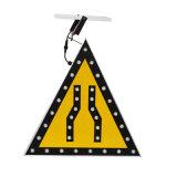 Señal de tráfico solar ligera ambarina de aluminio modificada para requisitos particulares del LED que contellea