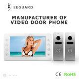 Interphone intercomunicador video del teléfono de la puerta de la seguridad casera de 7 pulgadas