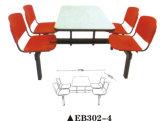 2016 nuevo vector plástico de la silla de la cantina de la escuela del estilo 4-Seater